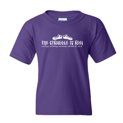Struggle Is Reel Cutesie in White Irish Dance TShirt