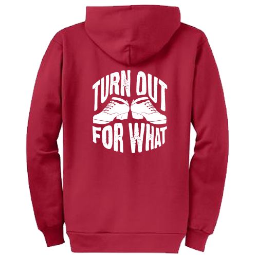 Turn Out For What Irish Dance Zippered Hoodie