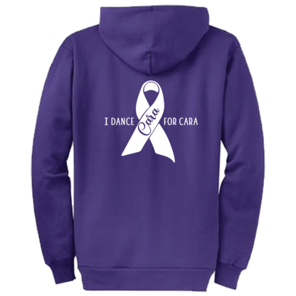 I Dance For Cara Zippered Hoodie