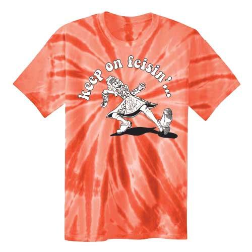 Keep On Feisin Tie Dye Orange