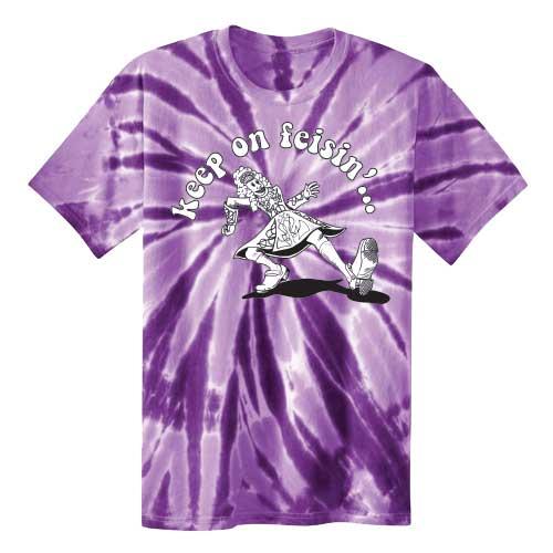 Keep On Feisin Tie Dye Purple