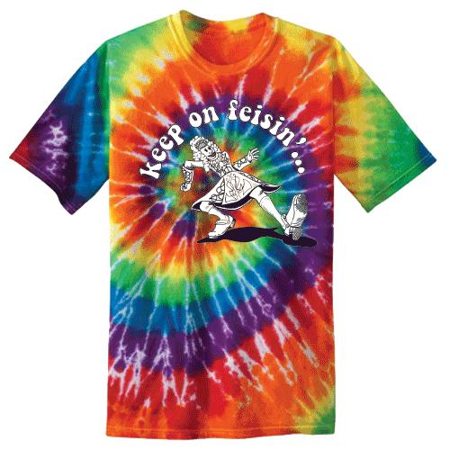 Keep On Feisin Tie Dye Rainbow