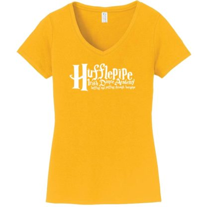 Hufflepipe Irish Dance Academy Ladies V Neck