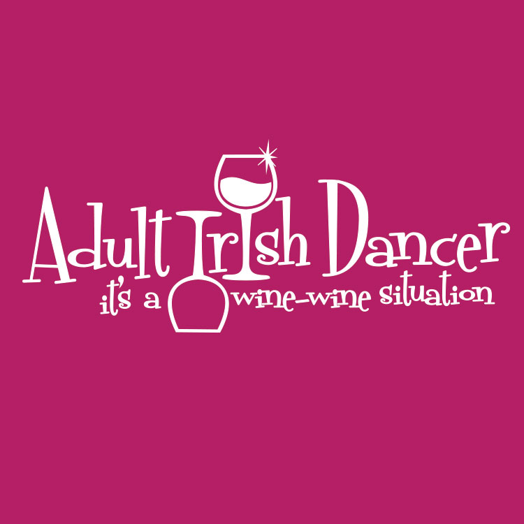 Adult Irish Dancer Wine Wine Situation Icon