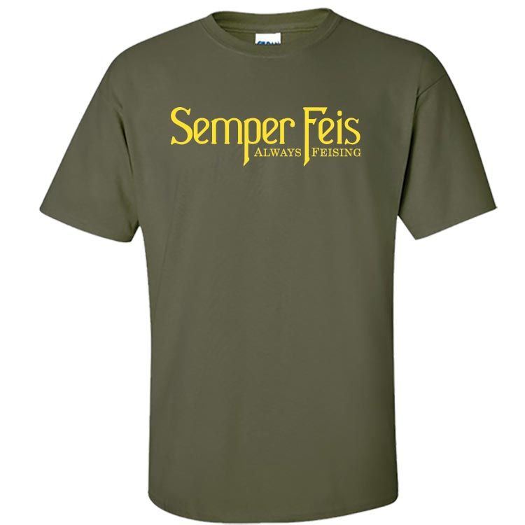 Semper Feis Classic Military Green Irish Dance TShirt