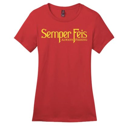 Semper Feis Contour Crew Neck Red Irish Dance TShirt